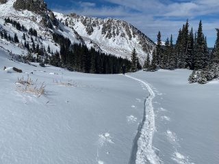 Nov 10, 2020: Ski penetration was minimal thanks to a supportable rain crust.