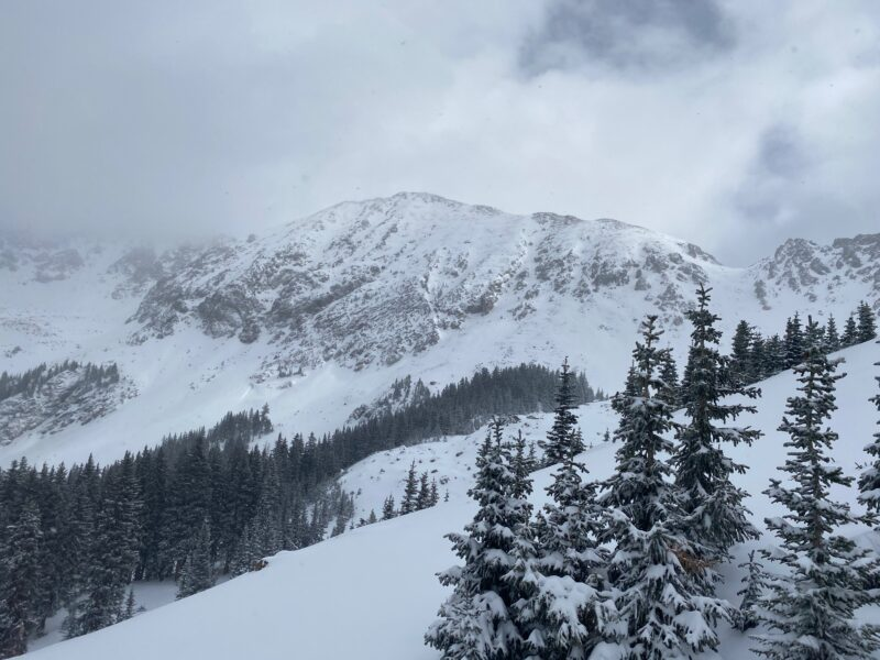 nice to have the mountains white again!