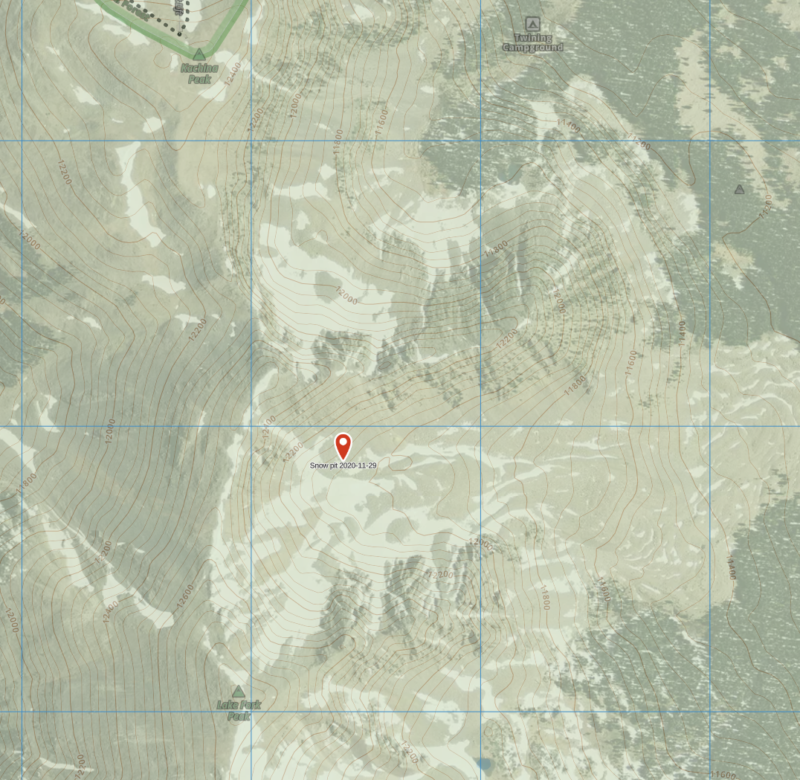 Pit location on map