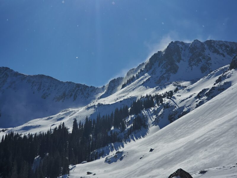 Wasn't hard to spot why the skiing wasn't so great. Strong winds continue to build hard slabs in the alpine.