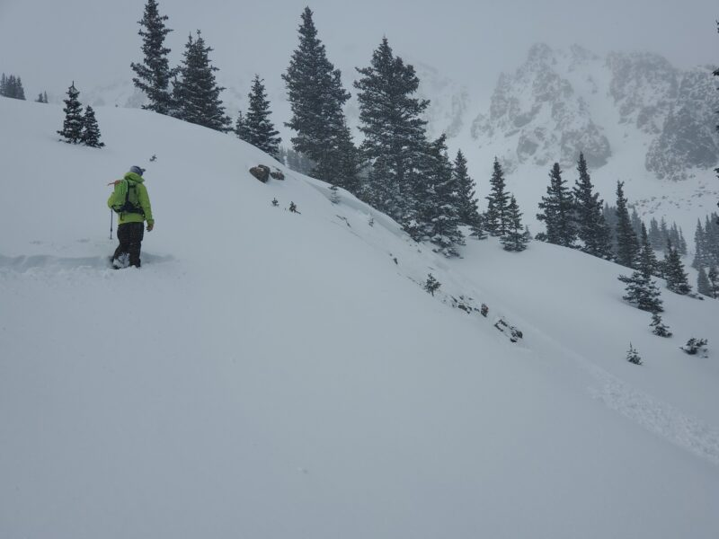Avalanche intentionally triggered from where I'm standing