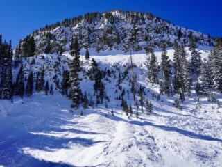 Jan 27, 2021: Avalanche started up high in the forbidden triangle than swept across the high traverse and down into pass