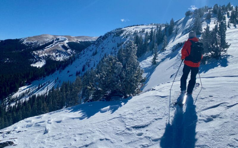 Steve with an old natural crown just in front of him.  All the avalanche paths ran naturally in this steep terrain on a NE last Tuesday