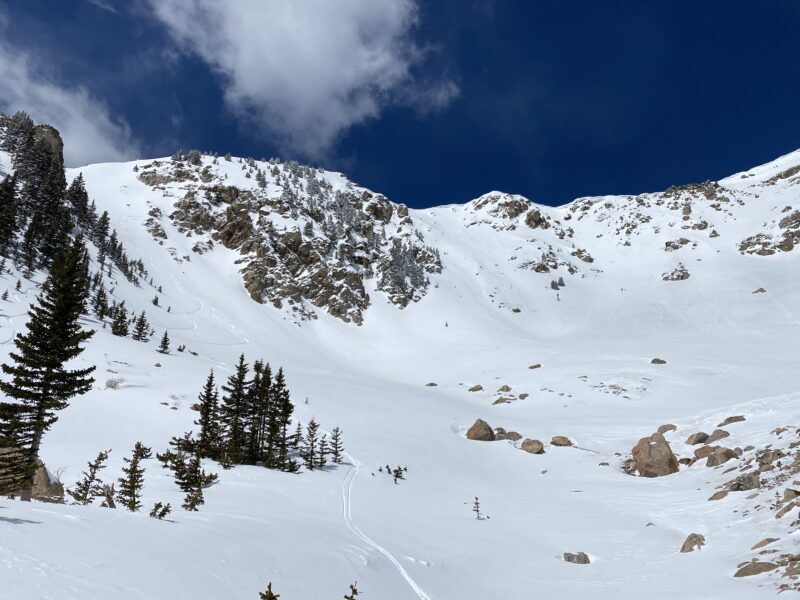 Looking up from SE Cirque of Baldy.